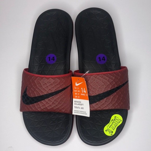 98d90c233f31 Nike Benassi Solarsoft Slides Size 14